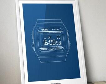 Casio Watch Print
