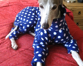 Greyhound & Whippet Pyjamas Blue Spot- Other colours available