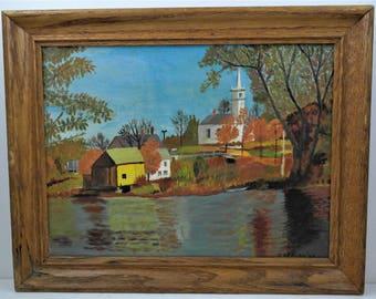Vintage New England Landscape Oil Painting