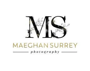 Monogram Logo, Photography Logo, Black Gold Logo, Modern Logo Watermark Initials Logo Stamp, Elegant Simple Logo Design, Photographer Logo