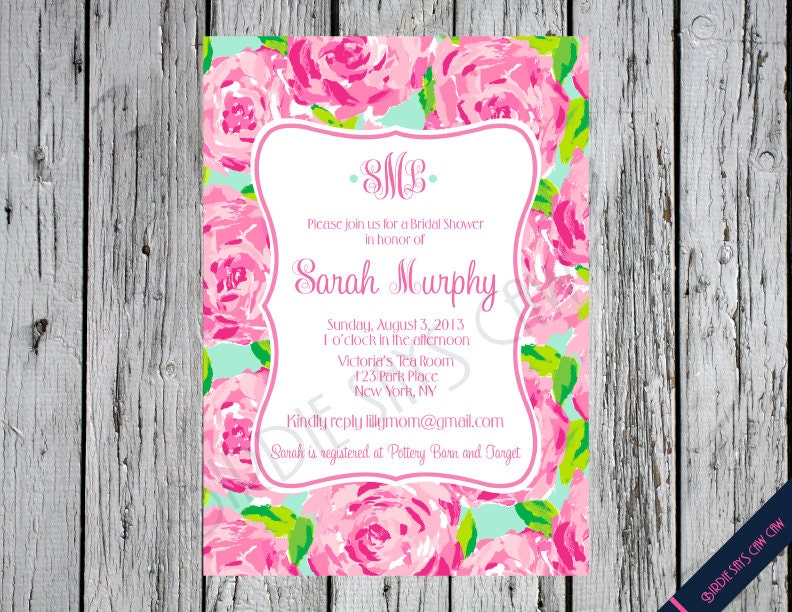 Lilly pulitzer bridal shower invitation first impression zoom filmwisefo Images
