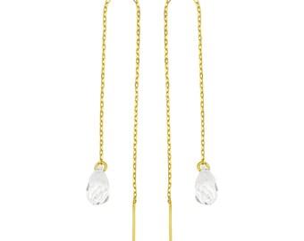 Dangling Swarovski crystals