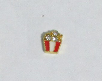 CZ Popcorn - Small HGC0333  Floating Charm for Glass Memory Locket