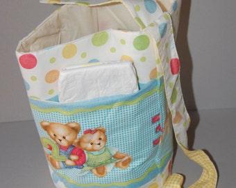 BLue Jean Teddy Sling bag Diaper tote