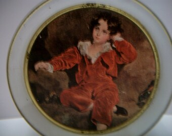 Master Lambton Red Boy Guildoraft New York Vintage Tin Container Wall Decor Victorian Style