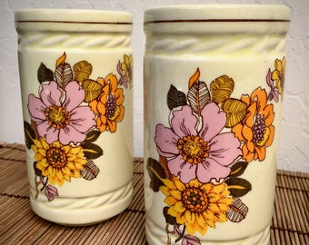 70's Funky Flowers tumblers