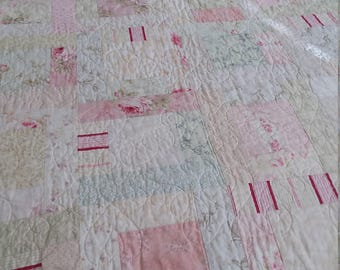 Pastel quilt/ Dorm Quilt/ Christmas gift/Girls quilt