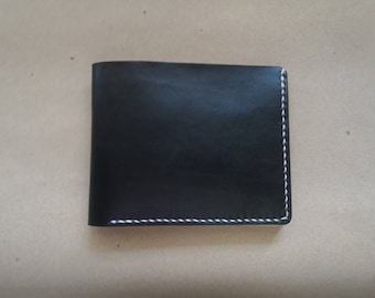Handmade Classic Bi Fold Leather Wallet Minimal Wallet Ladies Wallet Mens Wallet Card Wallet Vegetable Tanned Leather Wallet Veg Tan Leather