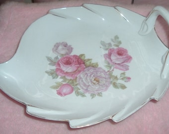 Bavaria Schumann and Chauvigny France tray pink roses