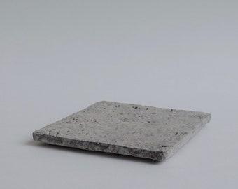 Square Carved Plate, 'Whitewash & Clear Glaze,' MI_177