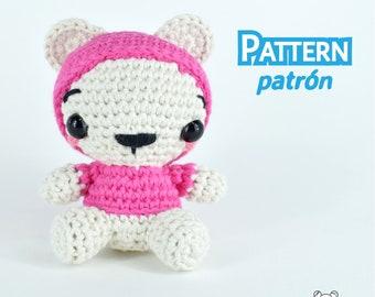 Osito, oso de peluche, amigurumi, osito amigurumi, patrón amigurumi, patrón crochet, amigurumi PDF, kawaii, patrón, ganchillo, crochet, diy