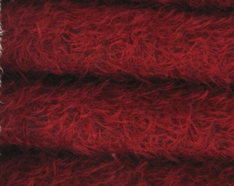 Quality 300S/CM - Mohair-1/4 yard (Fat) in Intercal's Color 450S-Crimson. A German Mohair Fur Fabric for Teddy Bear Making, Arts & Crafts