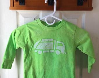 Garbage Truck Shirt, Green Truck Shirt, Kids Garbage Truck Shirt, Kids Truck Shirt, Boys Truck Shirt, Girls Truck Shirt, Long Sleeves (3T)