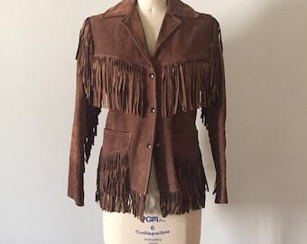suede leather / 1970 / Coat / Jacket / leather / XXS / XS