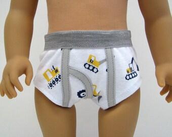 """Boy Doll Underwear - Boy Doll Clothes - 18 Inch Boy Doll Clothes - 18 Inch Boy Doll Underwear - 18"""" Boy Doll - Construction - American"""