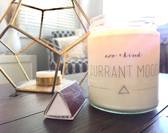 Currant Mood // Soy Candle // Wild Red Currant // 8 oz. // + Playlist