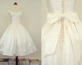 Meg - Fifties Silk Short Wedding Dress - Made to Order