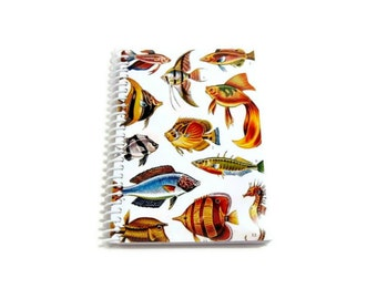 Colorful Fishes Pocket Notebook Spiral Bound
