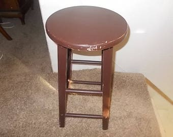 Bar Stool, Wooden Round Bar Stool, Round Stool, Wood Stool,  Country Home Decor, Farm House Decor, Vintage Home Decor, Home Decor,