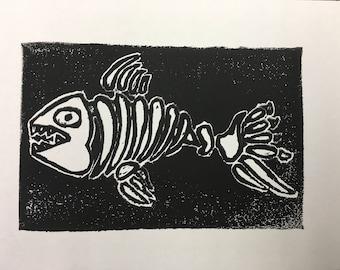 Bone fish print