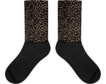 Socks - Leopard print, fun, playful