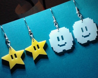 Invincibility Star OR Happy Cloud Shaped Earrings