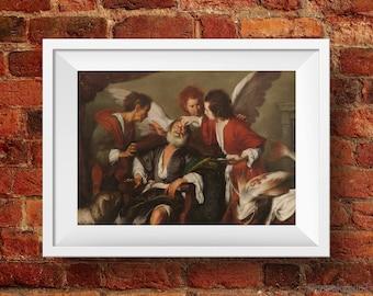 Tobias Curing His Father's Blindness - High Quality print made with Gloss Photo Paper - Original of Bernardo Strozzi - Venice