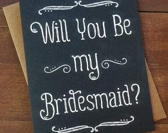 Bridesmaid Invite, Bridesmaid Proposal, Will You Be My Bridesmaid Card Asking Bridesmaid Ask Bridesmaids Sister Bridesmaid Sister in Law