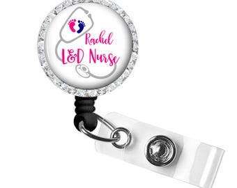 Labor & Delivery Nurse Badge Reel | Retractable Badge Holder | Personalized Badge Reel | Style 748
