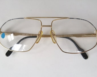 Vintage Aviator Eyeglasses Superline Italy Aviator Glasses Gold Frames Vintage Eyewear Vintage Glasses Square Glasses Square Eyeglasses
