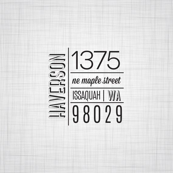 Modern Block Personalized Address Stamp, Wedding Return Address Stamp, Custom Address Stamp, Self Inking Stamp, Rubber Stamper