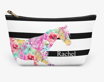 """Horse Make Up Bag, Cosmetic Case, Carrying Pouch, Accessory Pouch 12.5""""x8.5"""" or 8.5""""x6"""""""