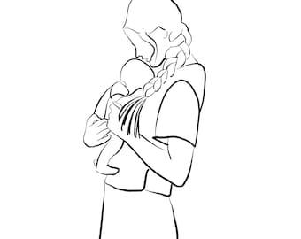 mama + baby downloadable print