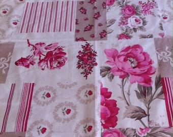 centerpiece pattern print patchwork roses