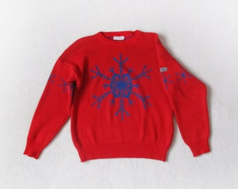 Rare ADIDAS sweater, Trefoil logo, Original West Germany Adidas blouse, red adidas blouse, Christmas sweater, red blue blouse, adidas top