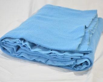 Faribo 100% Wool Blanket Faribault Minnesota-Beautiful Blue Wool Blanket * Cottage Bedding * Country Bedding * Vintage Bedding * Boho Chic