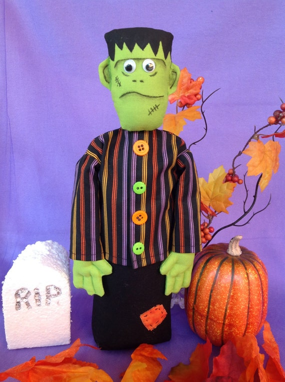 Frankie - Mailed Cloth Doll Pattern 11inch Frankenstein Monster Free Standing Stump Doll Pattern