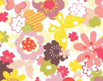 Momo Fabric, Butterfly Floral, Just Wing It by MoMo for Moda Fabrics, 32441-11