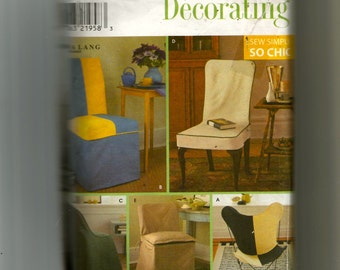 Simplicity Chair Covers Pattern 8261