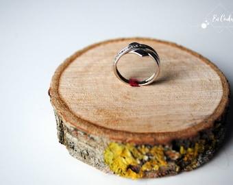 Porte alliance en bois - Mariage original et nature