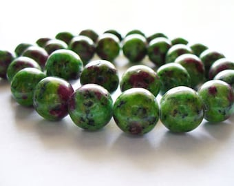 Ruby in Zoisite Round 10mm
