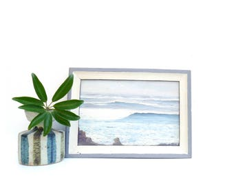 Vintage Small Oil Seascape Painting, Ocean Painting, Beach