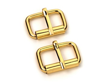 """10pcs - 1"""" Roller Pin Belt Buckles - Gold - Free Shipping (ROLLER BUCKLE RBK-113)"""