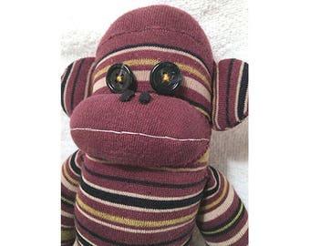 Sock Monkey - Burgundy