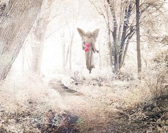 Heavenly, Angel Photography, Spiritual Angel Wings Prints, Spiritual Angel Art, Celestial Angel Decor, God, Jesus, Ethereal Angel Prints