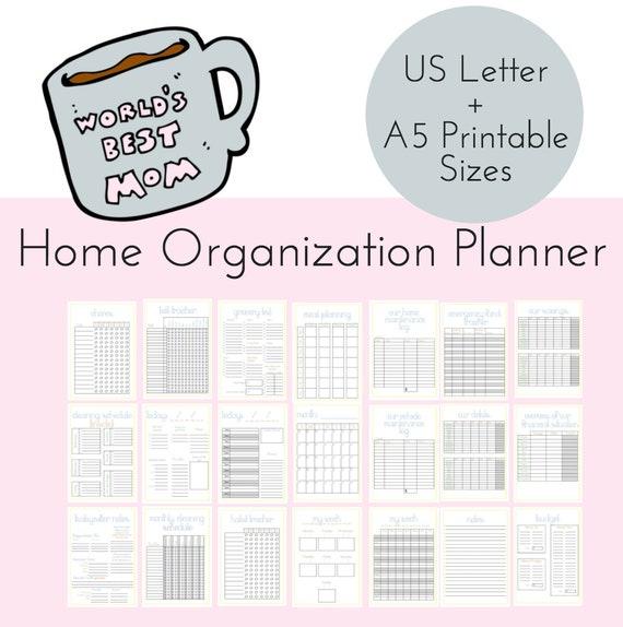 Mom Planner Household Binder PRINTABLE Family Binder Home
