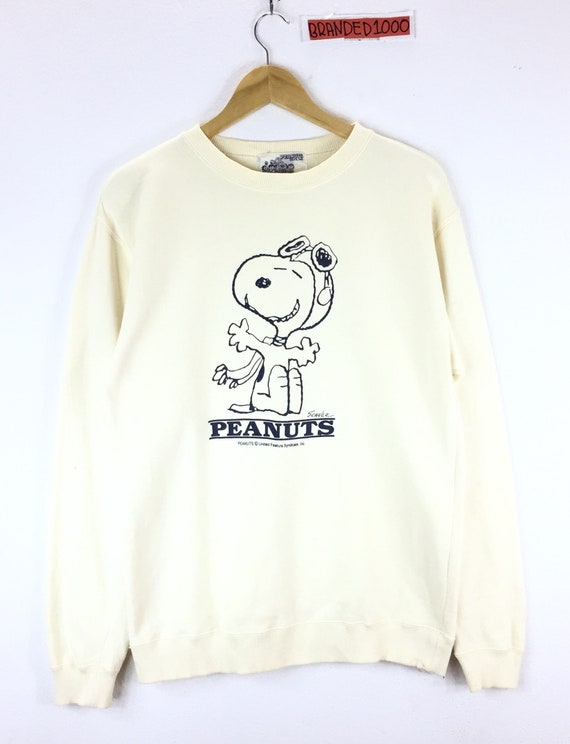 Rare!!! Vintage Peanuts Sweatshirt The World Famous Comic Strip Jumper Pullover Peanuts Snoopy Cartoon Skate Crew Neck Medium by Etsy