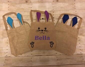 Personalized easter basket,SALE, personalized easter bag, easter bucket, custom easter basket, easter egg hunt bag