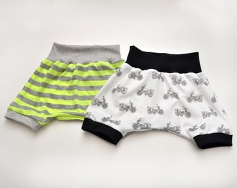 Infant/Toddler Harem Shorts with Waistband and Leg Cuffs