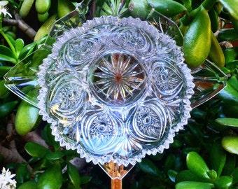 Dolores • Yard Art • Crystal Cut Glass Garden Flower • Garden Decor • Vintage Repurposed Upcycled • Sun Catcher